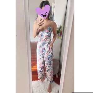 Forever New Floral Jumpsuit size 8